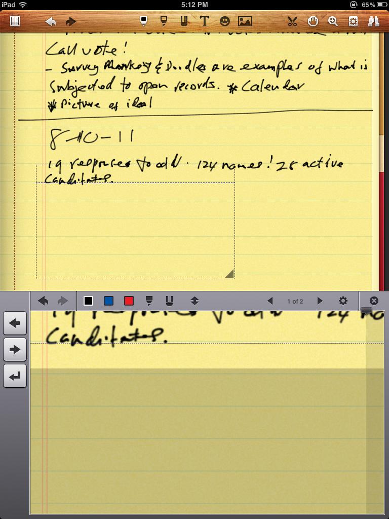 Noteshelf notetaking app