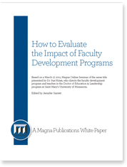 Developing a Framework for a Customized Faculty Development Evaluation Plan