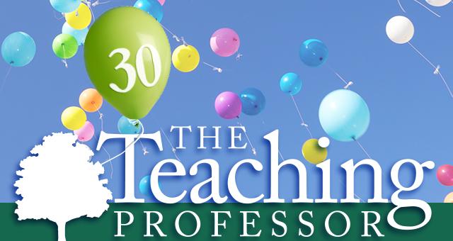 Teaching Professor newsletter turns 30