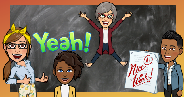 Bitmojis, customized avatars, can be used in the classroom with students