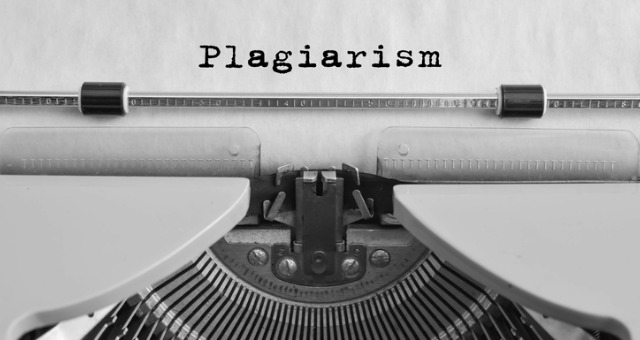 Word plagiarism written on piece of paper with typewriter