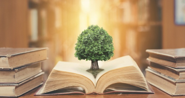 Tree growing from book reflects the Teaching Professor series