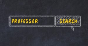 """Search bar that displays the word """"professor"""""""