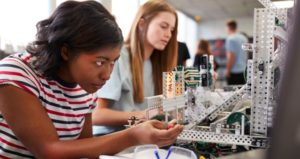 Students engage in performance-based learning with science project