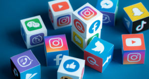 Social media icons indicate how instructors can use it in their online classes