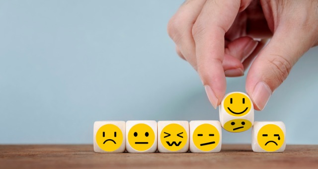 Blocks of emojis displayed on desk