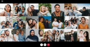 People on Zoom call represent individuals from all different generations and diversities