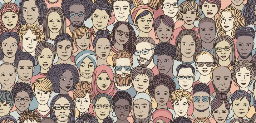 Individuals from all different ethnicities and cultures are drawn together