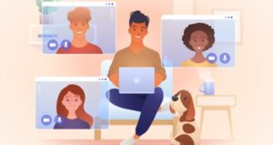 Online virtual discussion rooms with students