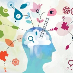Mind with numerous elements coming to and from the brain